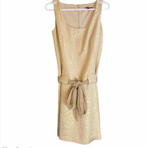 NWOT Gold formal dress with front tie